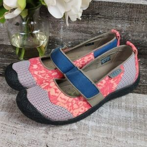 NWOB KEEN patchwork fabric Mary janes